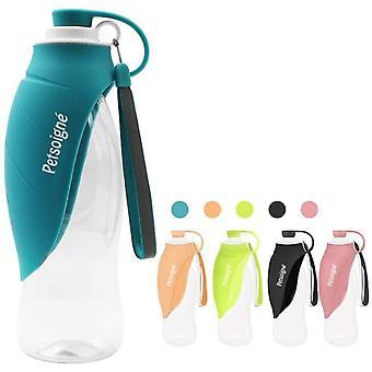 Hund Wasserflasche Reise Tragbar Hund Trinkflasche Unterwegs in Silikon für Outdoor (Blau)