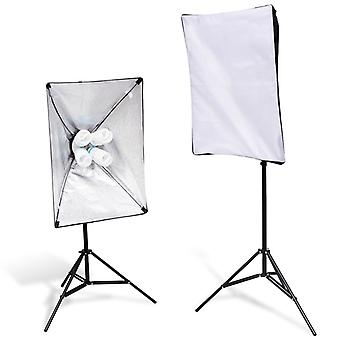 2x Leuchtenstative Studioleuchte 2x Softbox Fotolampe Fotostudio Set
