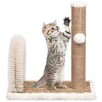 vidaXL cat tree with fur care bow and scratch column