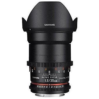 Samyang syds35m-c vdslr ii 35mm t1.5 wide-angle cine lens for canon ef cameras