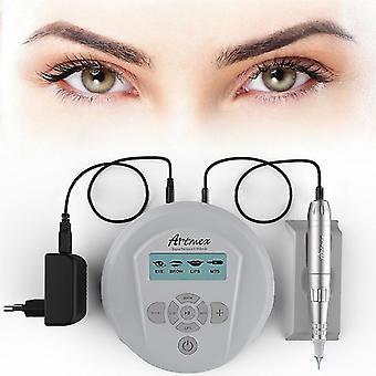 Permanent machiaj sprânceană tatuaj mașină cu panoul de control digital micropigmentare dispozitiv de buze stilou artmex v6 cu 5 ace gf fa1888