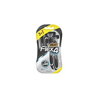 Manual shaving razor Bic Flex4 (4 uds)
