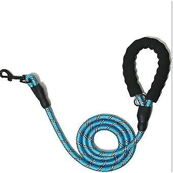 Pet Reflexní trakční lano kulaté lano Nylon dog anti-ztracené vodítko (modrá)