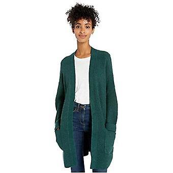 Brand - Goodthreads Women's Boucle Shaker Stitch Cardigan Sweater, Pine Heather , Large