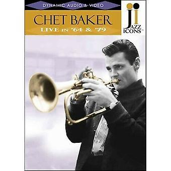 Ícones do Jazz Chet Baker - Ao vivo em 64 e 79 DVD cert E Região 2