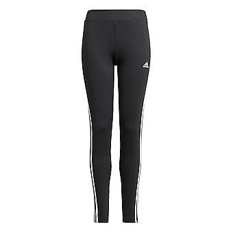 adidas D2M 3-Streifen Jugend Mädchen Kinder Sport Legging Tight Hose Schwarz/Weiß