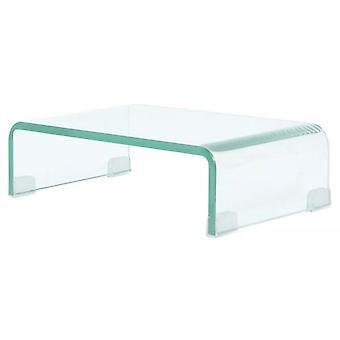vidaXL TV pöytä/näyttö lisätä lasi läpinäkyvä 40x25x11 cm