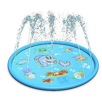 Vízpermet párna gyerekek játszanak a vízi játék játék mat kültéri gyepszőnyeg (Delfin)