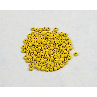 4mm Gele Houten Schroefdraad Kralen Volwassenen Ambachten - 150pk