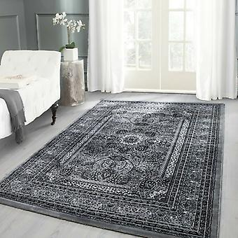 Orient Tapis Design Bordüre Motif traditionnel couleur gris tapis de salon
