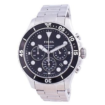 化石Fb-03クロノグラフステンレス鋼クォーツFs5725 100mメンズ腕時計