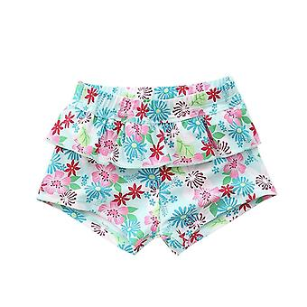 Baby Bikini Panty Floral Ruffles Toddler Safe Swim Panties Front