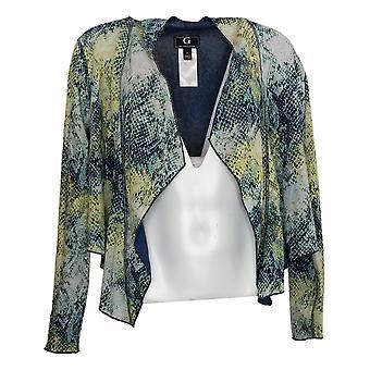 G By Giuliana Women's Sweater Knit Reversible Cardigan Blue 732189