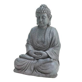 Accent Plus 12-inch Fiberglass Buddha Statue, Pack of 1