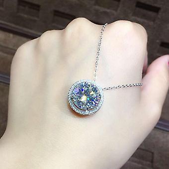 5ct Moissanite Diamond Přívěsek 925 Sterling Silver Charm Party Svatební přívěsky Náhrdelník