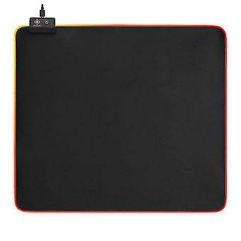 DELTACO GAMING RGB mousepad, 450x400x4mm, 13 LED modes, black