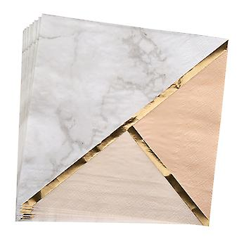 Serviette en marbre Colour Block - Peach