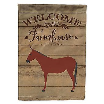 Flags windsocks carolines treasures ck6794chf hinny horse donkey welcome flag canvas house size