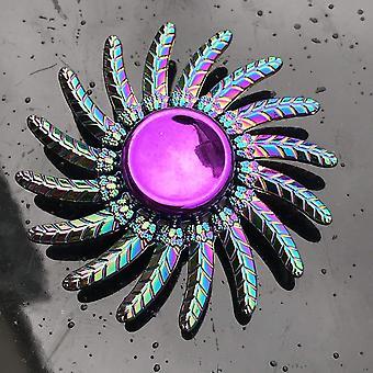Anti-Stress-Zappeln Regenbogen moderne futuristische Metall-Finger-Spinner (Q6)