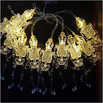 Mimigo Solar Energy Halloween String Lights, Led Kürbis Lichter, Weihnachtsleuchten für Outdoor Decor Schädel Modellierung Licht