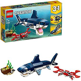 Lego 31088 Creator Deep Sea Creatures: Shark, Crab And Squid Or Angler Fish, 3 In 1 Seaside Adventures Building Set, Toys For Kids 7 Years Old And Old