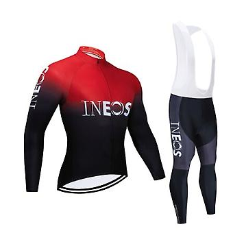 2021 Men's Breathable Long Sleeve Cycling Set Mountain Bike Clothes Autumn Bicycle Jerseys Clothes Maillot Ropa Ciclismo