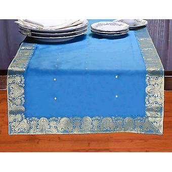Turchese - Hand Crafted Table Runner (India)