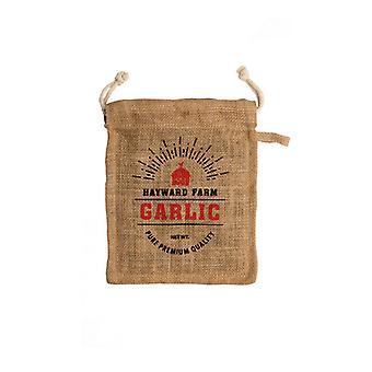 Jute Hayward Farm Garlic Bag