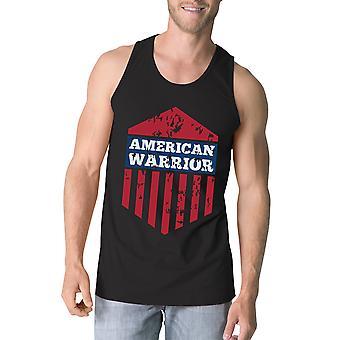 Американский воин черный Crewneck графический танки для мужчин подарка для него