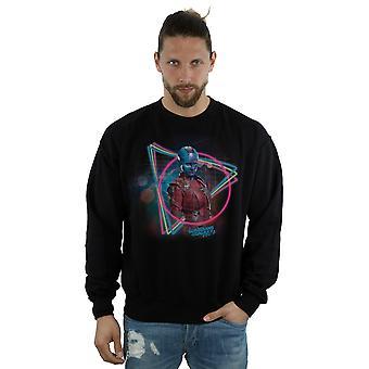 Marvel Men's Guardians Of The Galaxy Neon Nebula Sweatshirt