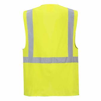 sUw Mens Hi-Vis Safety Workwear Berlin Executive Vest