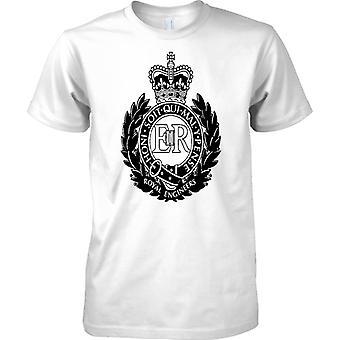 Lisensiert MOD-Royal Engineers B&W Insignia-barn T-skjorte