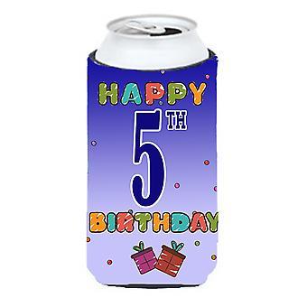 Happy 5th Birthday Tall Boy Beverage Insulator Hugger