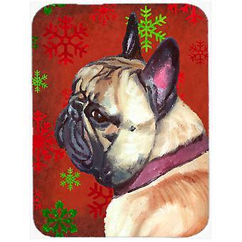 Fransk Bulldog Frenchie röda snöflingor semester jul glas skära styrelsen Lar