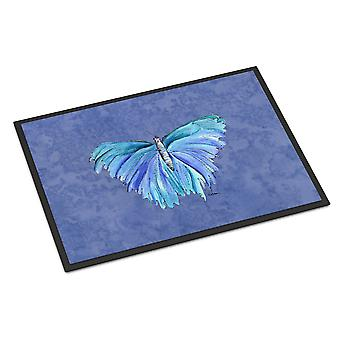 Carolines schatten 8855JMAT Butterfly on Slate Blue Indoor of Outdoor Mat 24 x 3