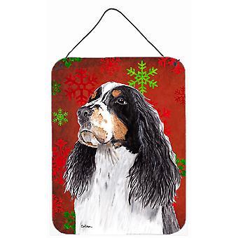 Springer Spaniel vermelho flocos de neve férias Natal parede ou porta pendurada imprime