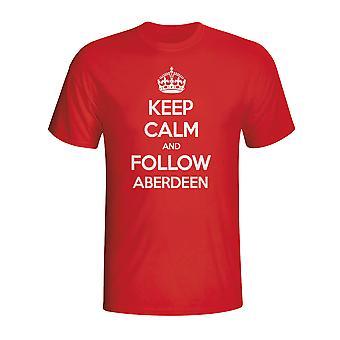 Halten Sie ruhig und folgen Sie Aberdeen T-shirt (rot)