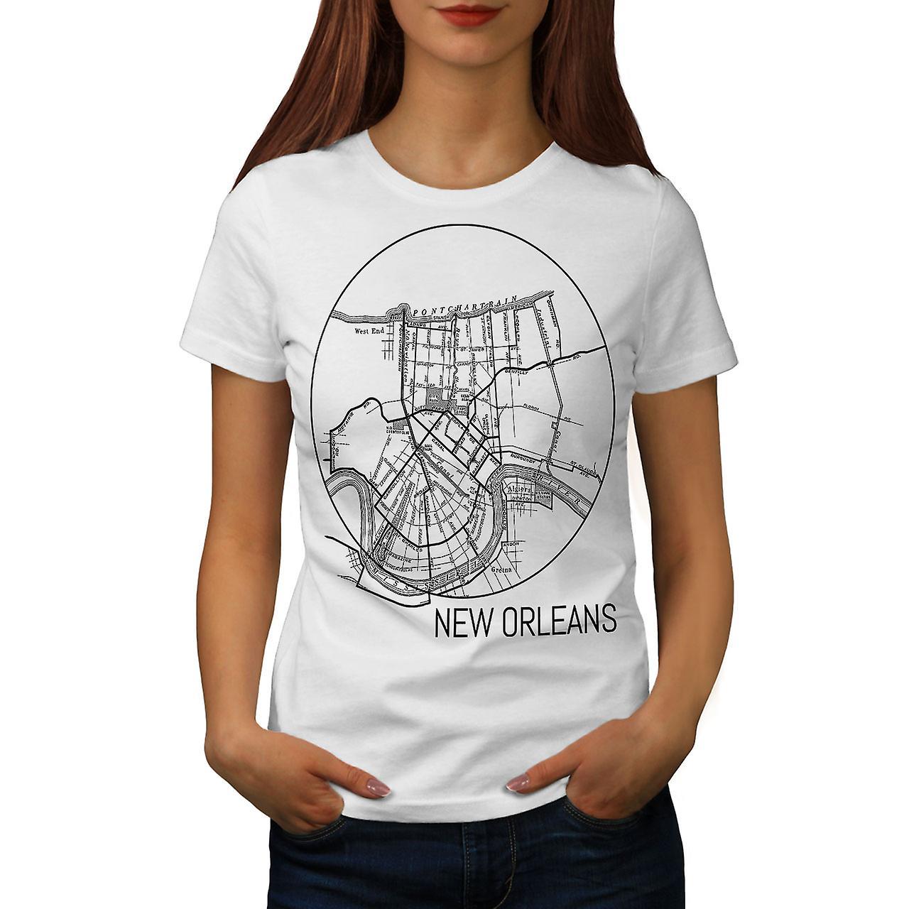 WhiteT-shirt femme Amérique New Orleans | Wellcoda