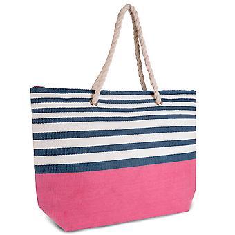 Sokker Uwear damer kontrast Stripe Print halm strand Bag