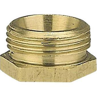 GARDENA 07273-20 Messing-Reduzierer Nippel 47,81 mm (1 1/2) OT, 39,0 mm (1 1/4) IT