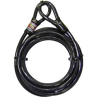 Security Plus 0290 stalen kabelslot zwart hangslot lussen