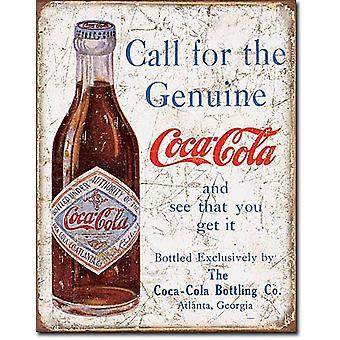 Chamada de Coca-Cola para a genuína... Sinal do metal