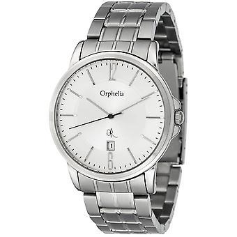 ORPHELIA Mens Analog Uhr entspannte Gefühl Silber Edelstahl 132-7708-88