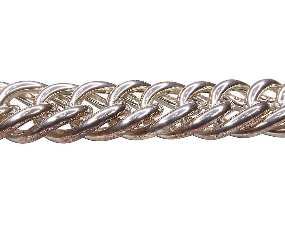 Christian gourmette silver bracelet
