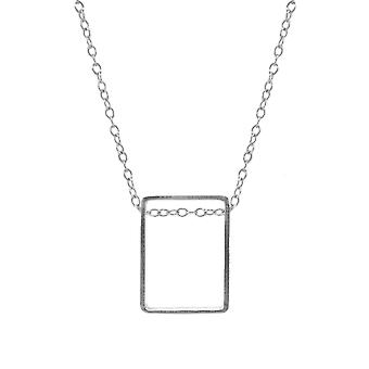 Anchor & Crew Bowen Box Mini Geometric Silver Necklace Pendant