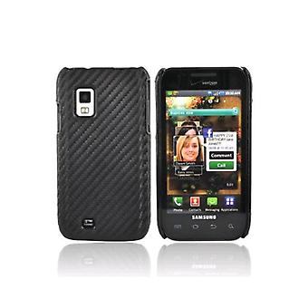 OEM Verizon Snap-on tapa uksessa Samsung Galaxy S fascinate i500 (grafiitti musta) (Bulk Packaging)