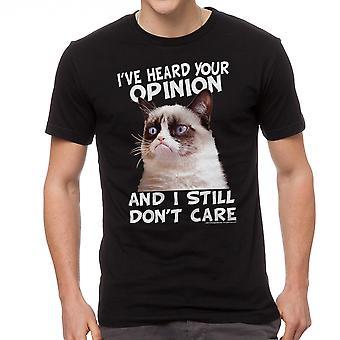 Zwart T-shirt van Grumpy Cat Cat advies mannen