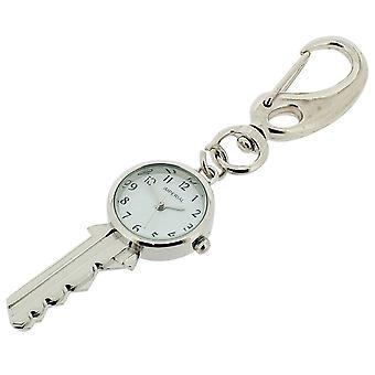 Cadeau de temps produits clés horloge porte-clés - Silver
