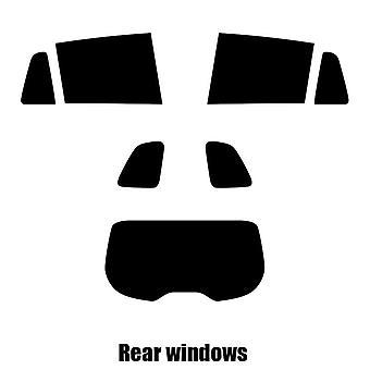 Pre cut window tint - Renault Laguna Estate - 2007 to 2016 - Rear windows