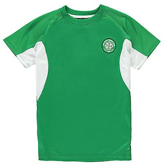 Source Lab Kids Boys Celtic FC Poly T Shirt Junior Crew Neck Tee Top Short